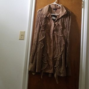 collared coat or button-down blouse